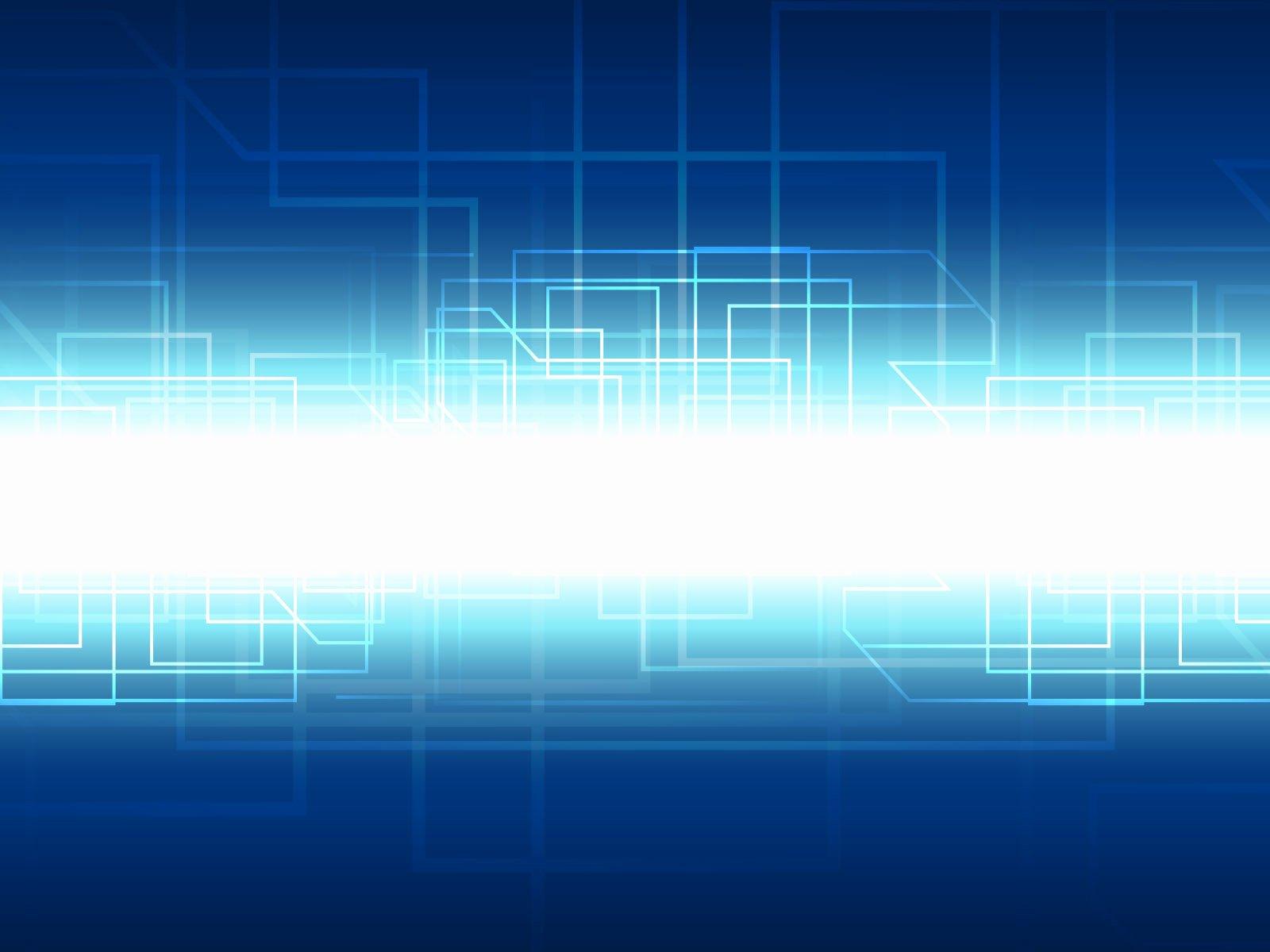 Puter System Powerpoint Templates Aqua Cyan Blue