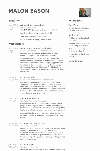 Puter Technician Resume Example