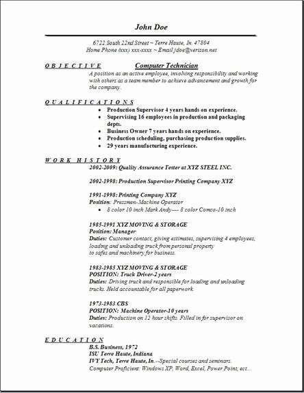 Puter Technician Resume Examples Samples Free Edit