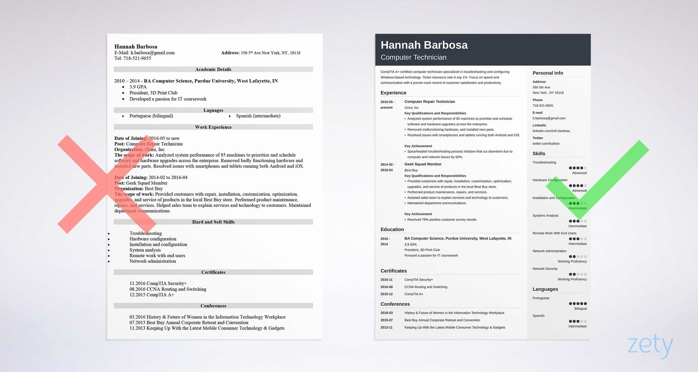 Puter Technician Resume Sample & Writing Guide [ 20