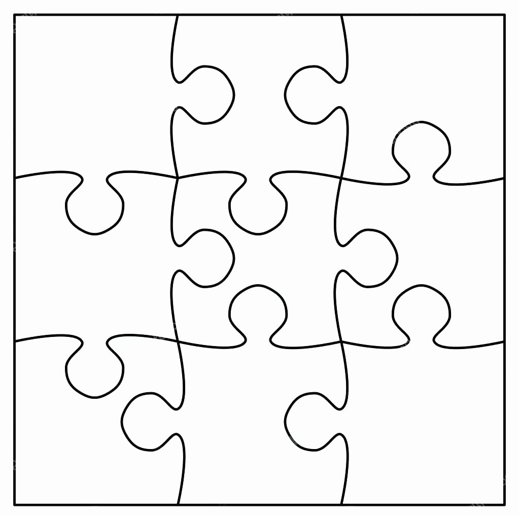 Puzzle Piece Template Printable