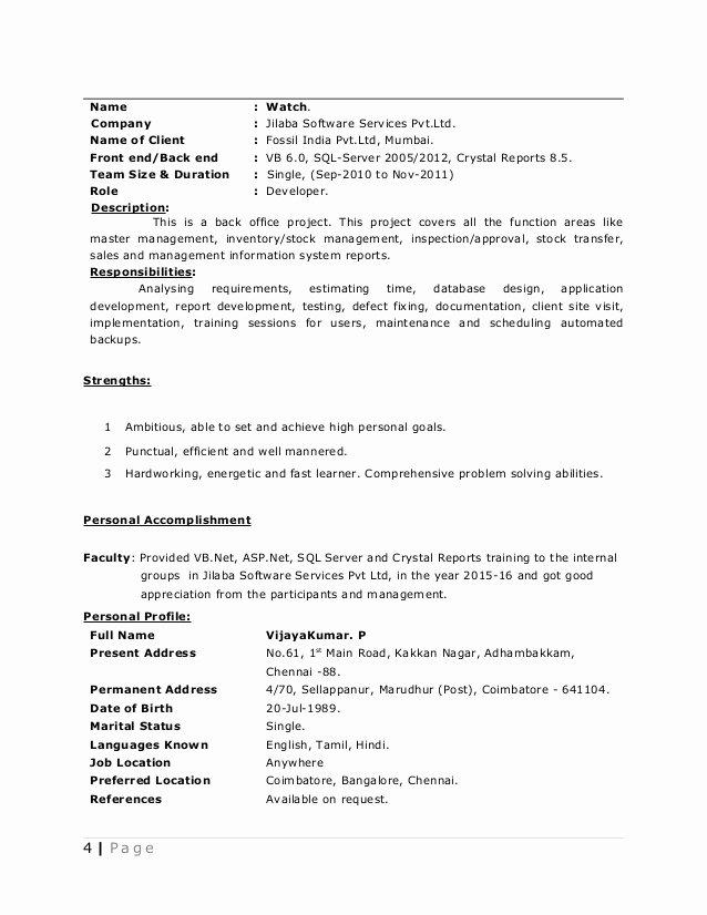 Pvk Resume