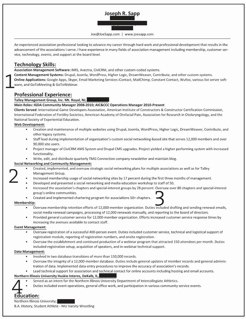 Qualifications for Resume List Staruptalent