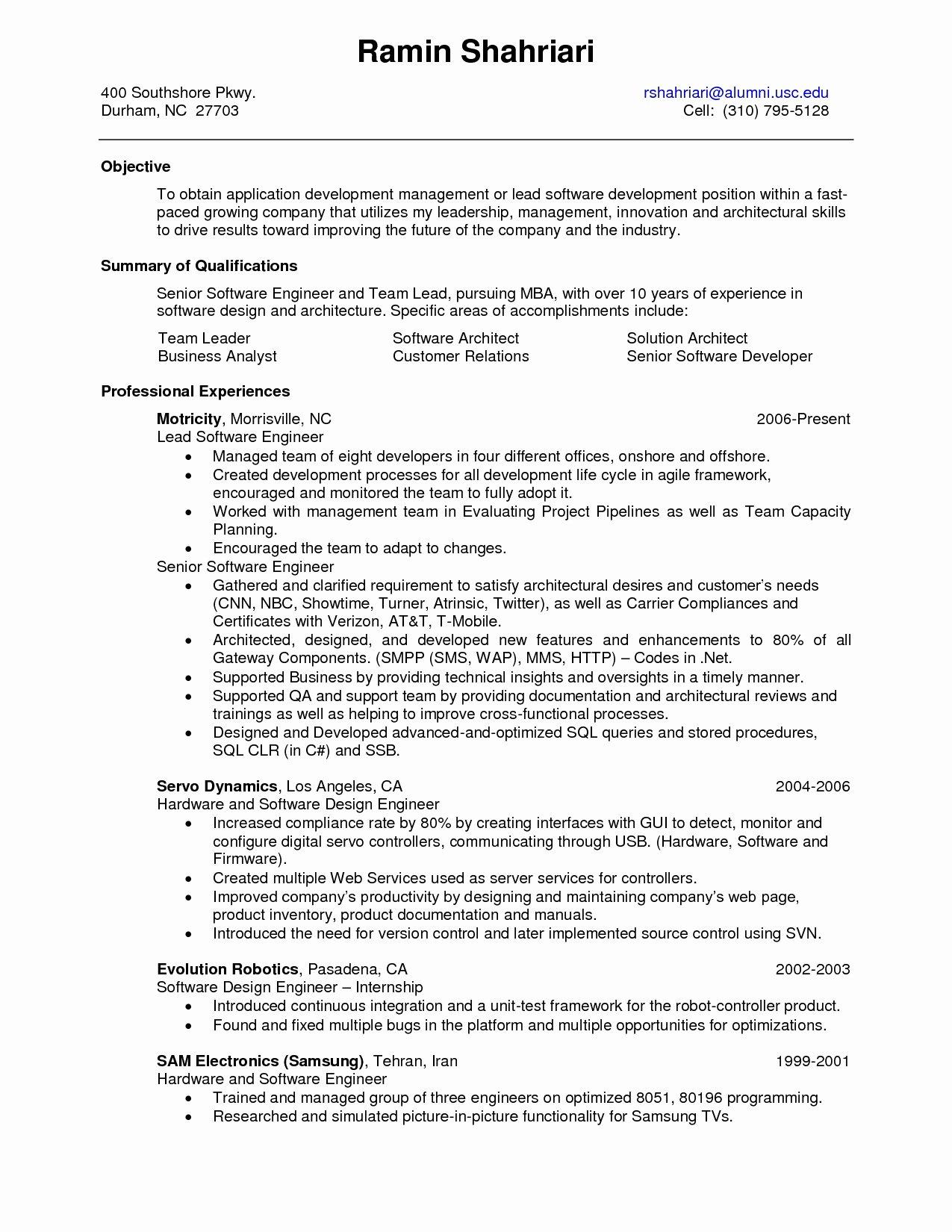 Quality Analyst Resume