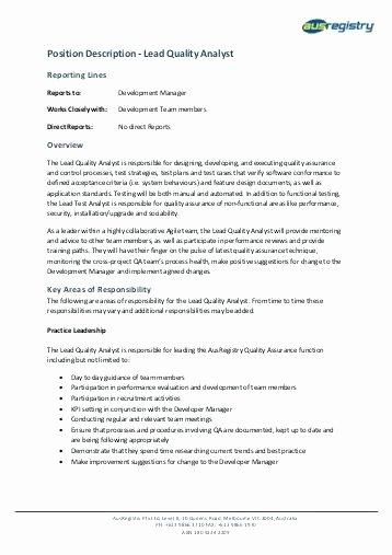 Quality assurance Job Description Oursearchworld