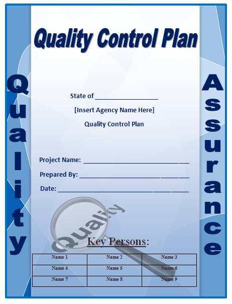 Quality Control Plan Template Microsoft Word Templates