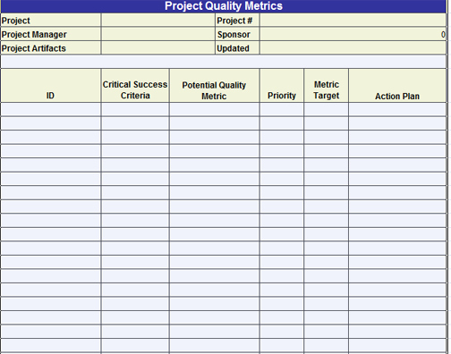 Quality Control Template Excel