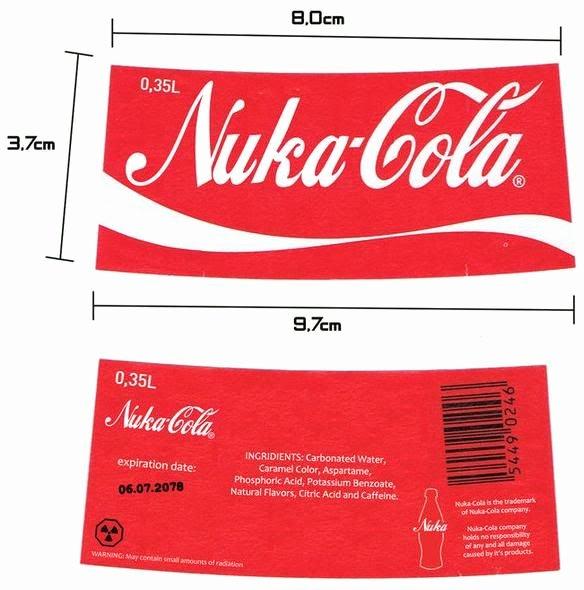 Quantum Nuka Cola Glass Bottle Fallout 3 New Vegas