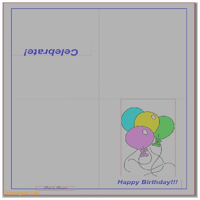Quarter Fold Greeting Card Template