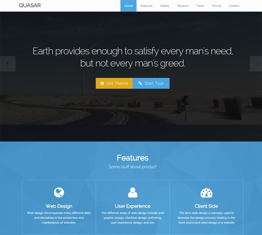 Quasar Free Bootstrap theme