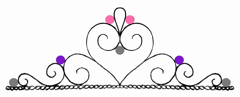 Queen Hearts Crown Template