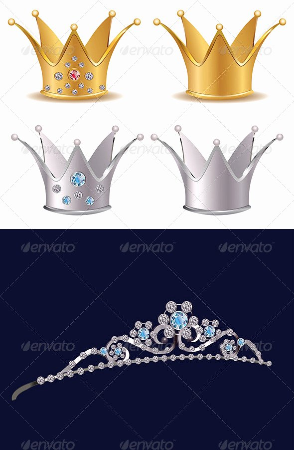 Queen Hearts Crown Template Tinkytyler Stock