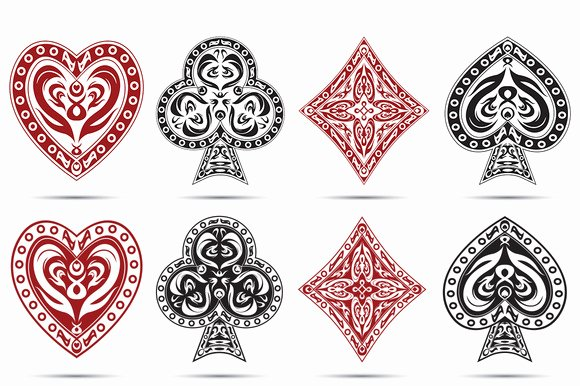 Queen Hearts Playing Card Template Designtube