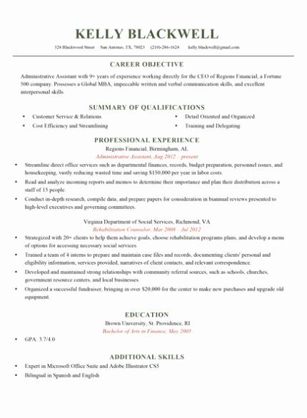 Quick Resume Template
