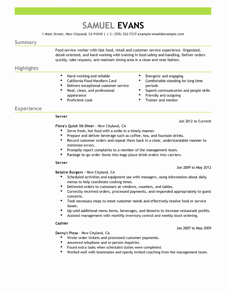 Quick Resume Template