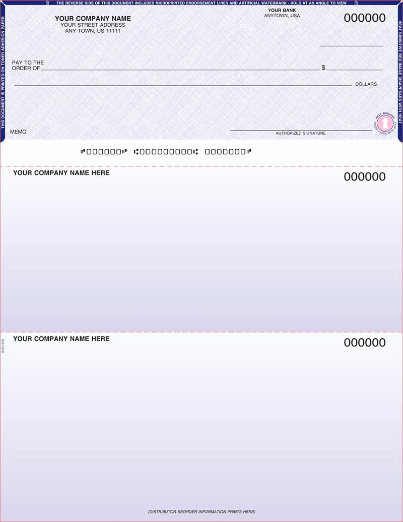Quickbooks Check Template