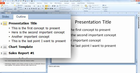 Quickly Create Slides From the Outline Pane In Powerpoint 2010