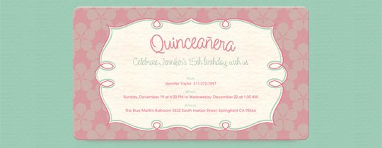 Quinceanera Free Online Invitations