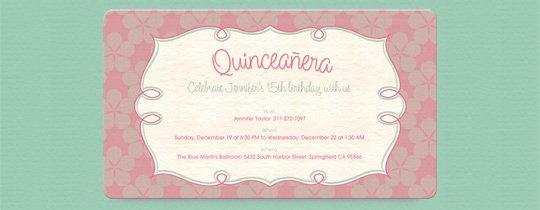Quinceañera Free Online Invitations