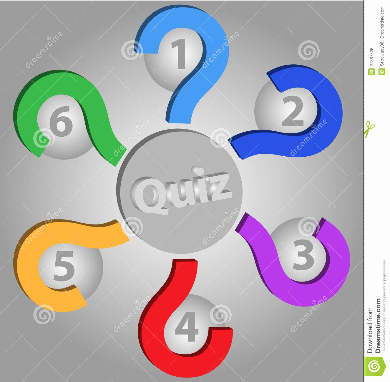 Quiz Empty Template Stock Illustration Image Of Finery