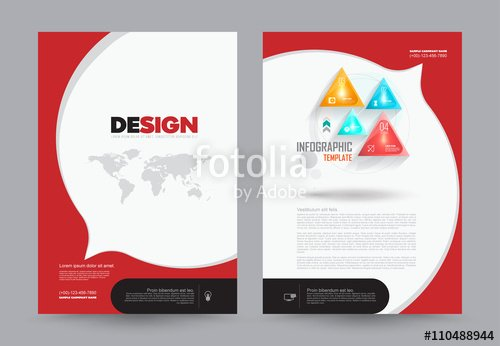 """cover Annual Report Leaflet Brochure Flyer Template A4"