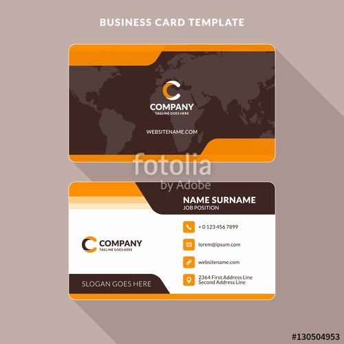 """""""creative and Clean Double Sided Business Card Template"""