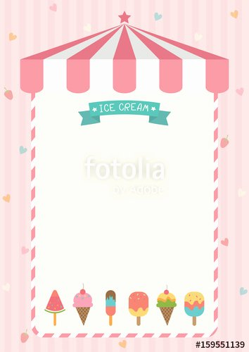 """ice Cream Cone and Bar Various Flavors Design with Pink"