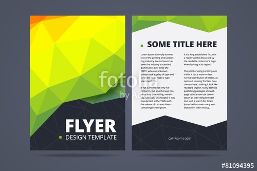 """two Sided Flyer Brochure Design Template "" Stock Image"