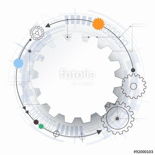"""vector Futuristic Technology 3d White Paper Gear Wheel"