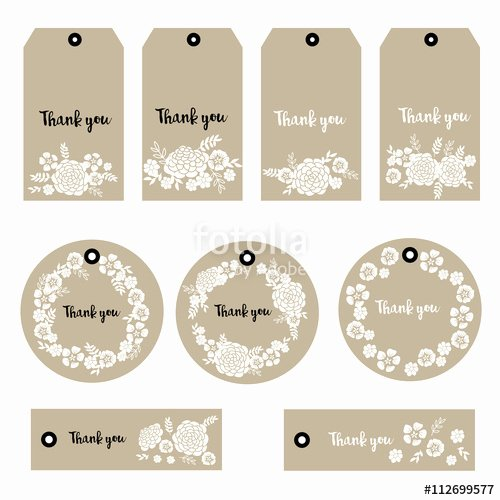 """vector Illustration Of Floral Tags Set Of Flowers"