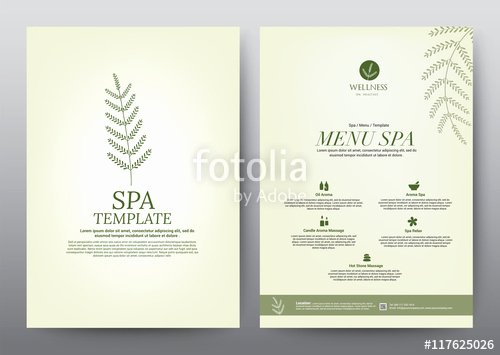 """wellness Spa Yoga Banner Template Flyer Menu Cover"