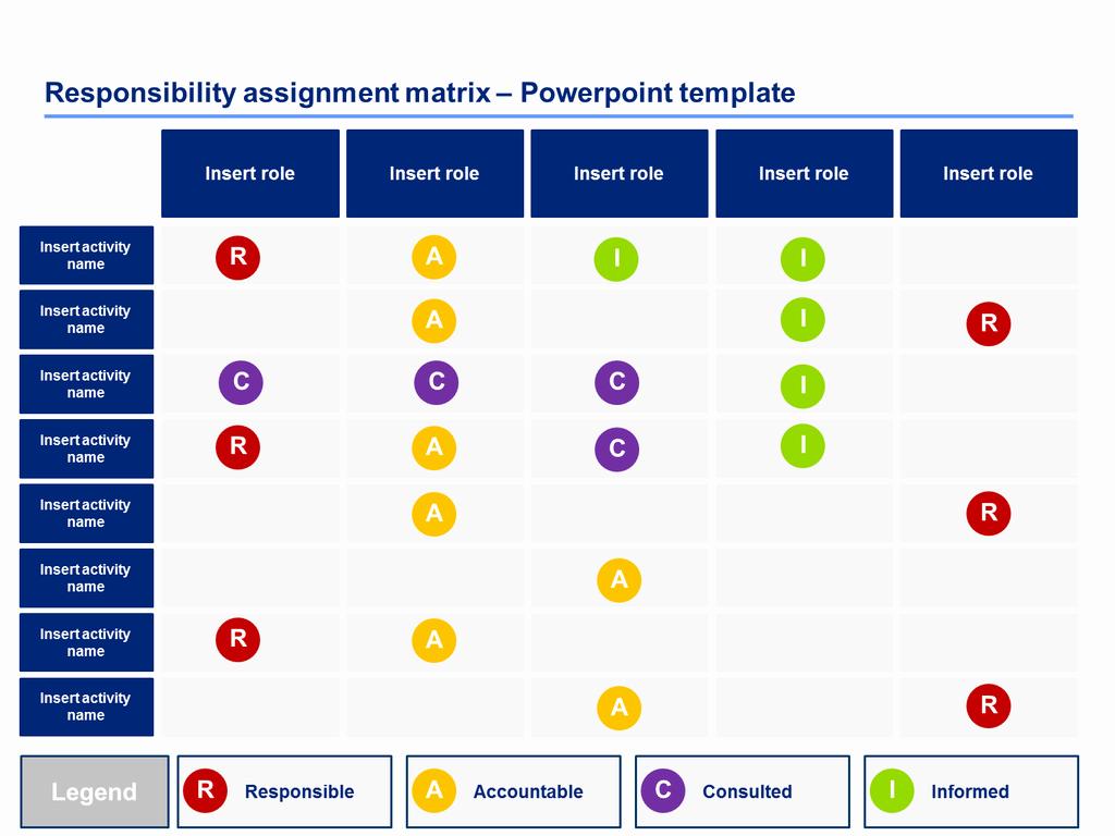 Raci Matrix Templates Powerpoint & Excel