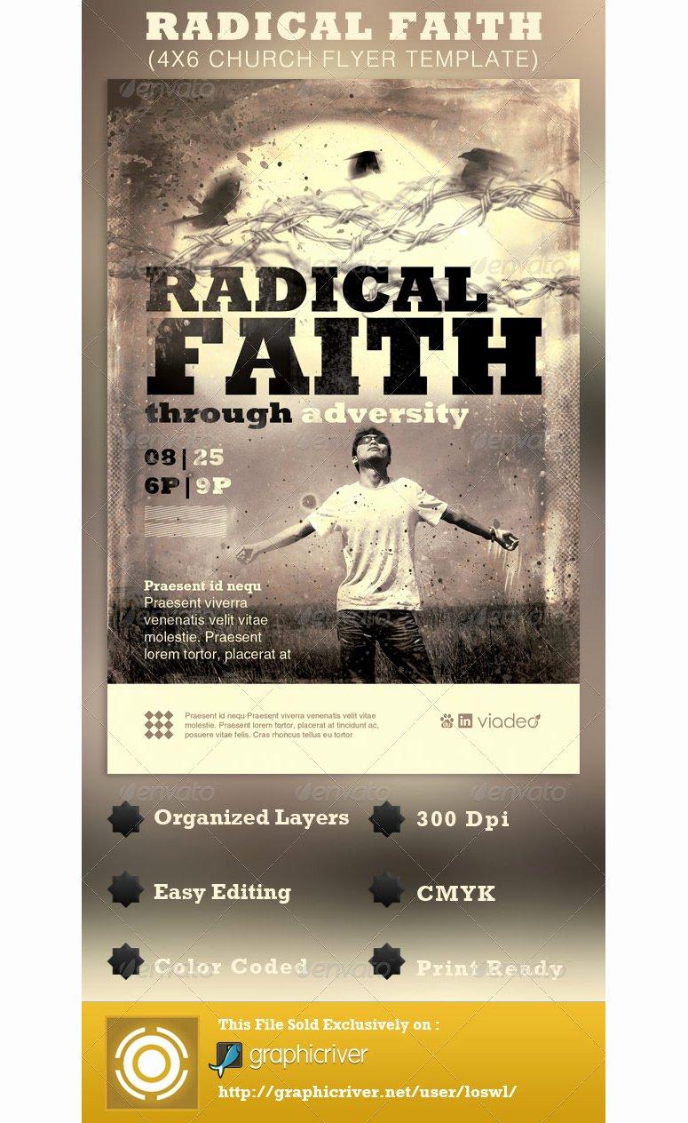 Radical Faith Church Flyer Template ‹ Psdbucket