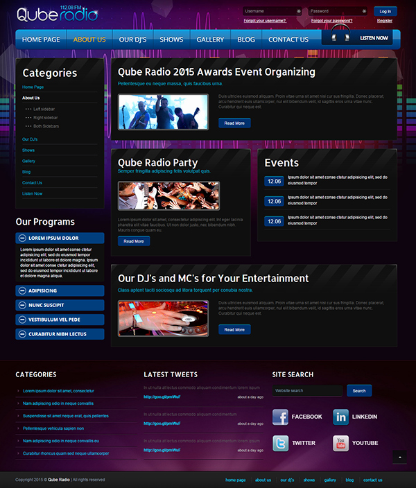 Radio St V3 Joomla Template On Behance