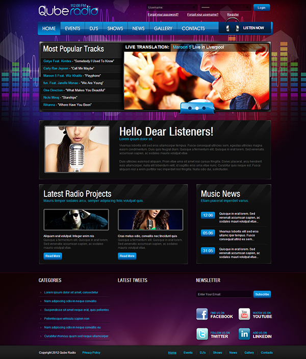 Radio Station Website Templates Bing Images