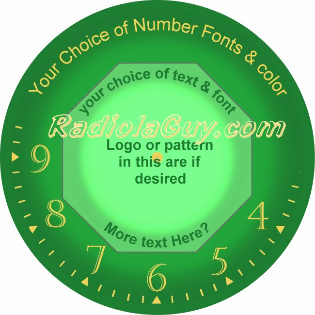 Radiolaguy Design Your Own Neon or Neon Look Clock Face