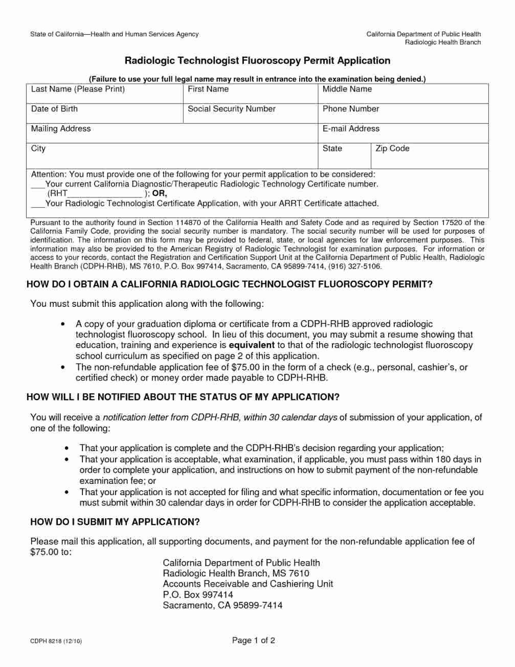 Radiologic Technologist Resume Entry Level