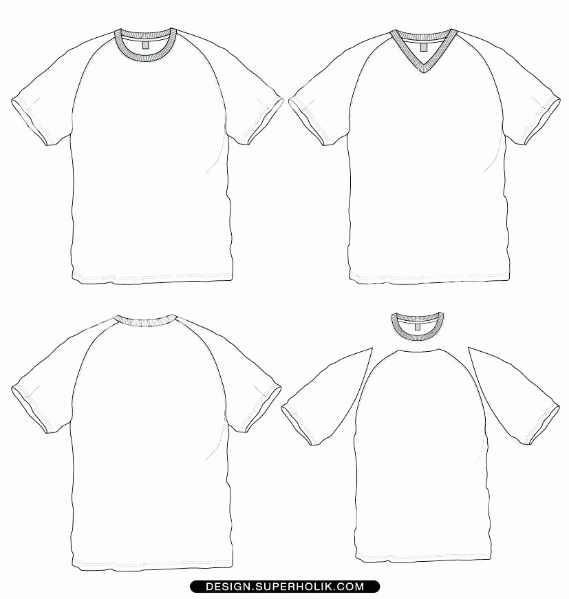 Raglan T Shirt Basketball Jersey Template Illustrator