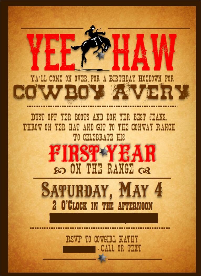 Ranch themed Invitation