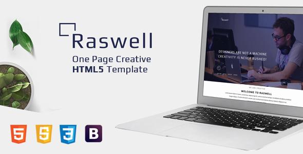 Raswell E Page Creative HTML5 Template Jogjafile