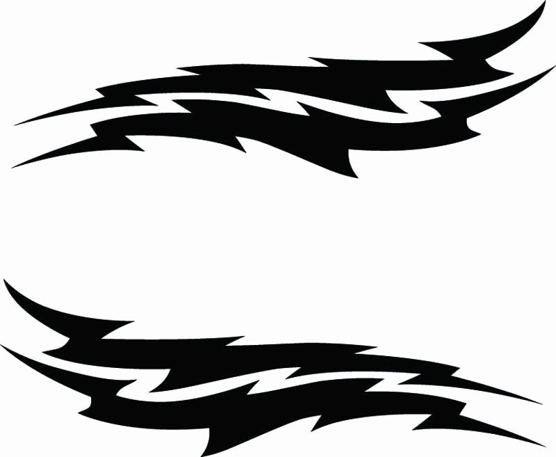 Rc Airbrush Stencils Paint Masks Lightning Bolt Single