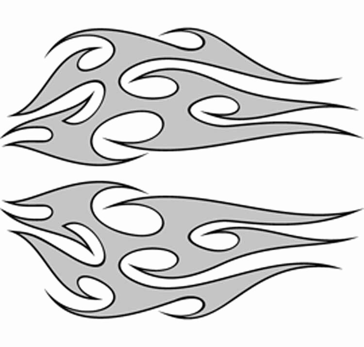 Rc Airbrush Stencils Paint Masks Tribal Flames 6 Single