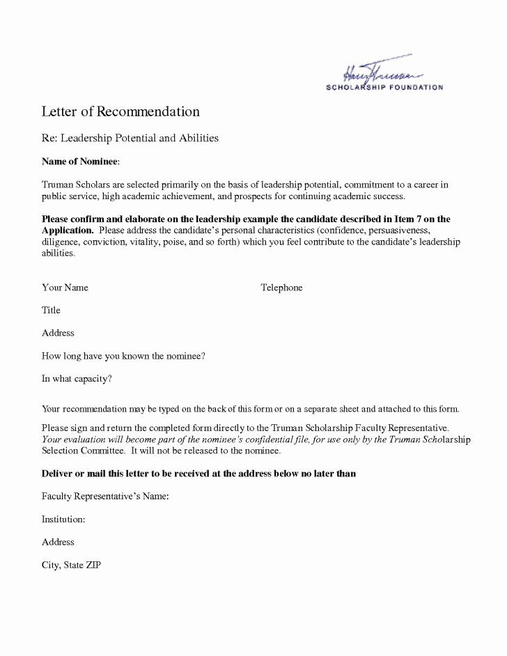 Re Mendation Letter Template Template Trakore Document