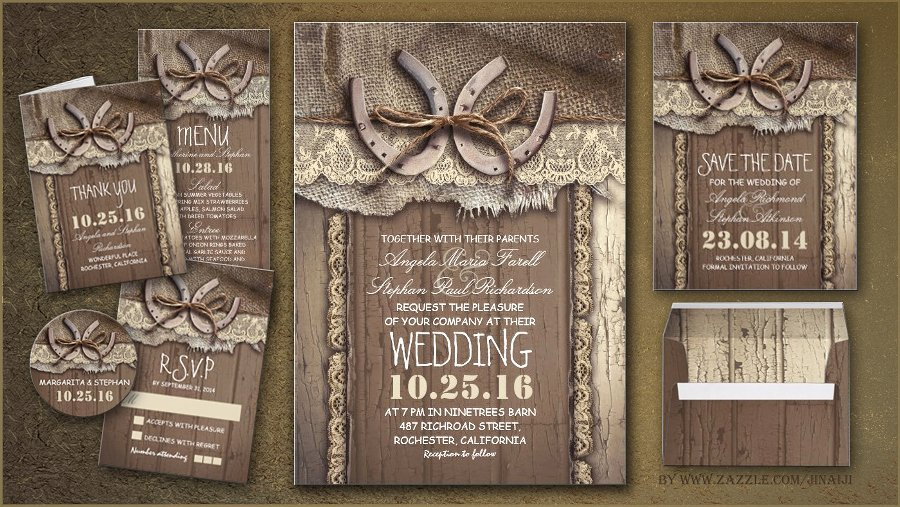 Read More – Rustic Country Wedding Invites with Horseshoe