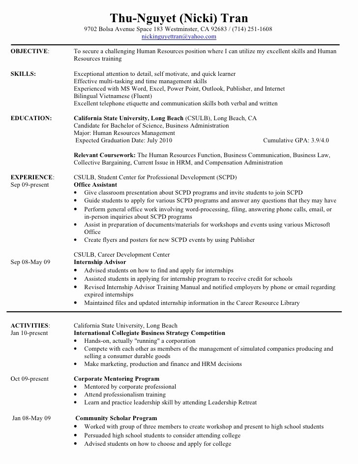 Read the Best Hr Manager Resume Sample