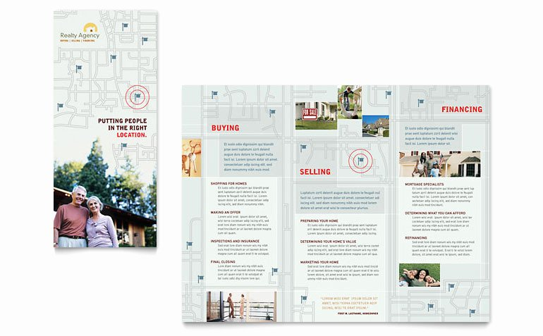 Real Estate Agent & Realtor Brochure Template Word