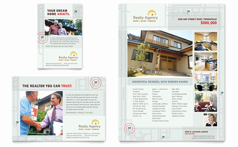 Real Estate Agent & Realtor Flyer & Ad Template Word
