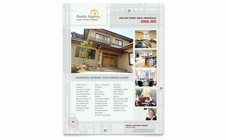 Real Estate Agent & Realtor Flyer Template Word & Publisher