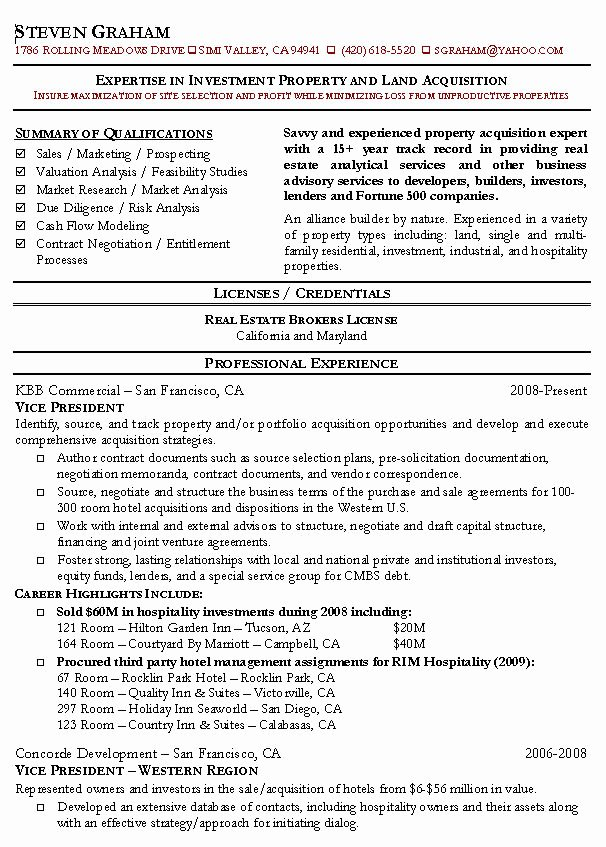 Real Estate Agent Resume Example Realtor Sample Resumes