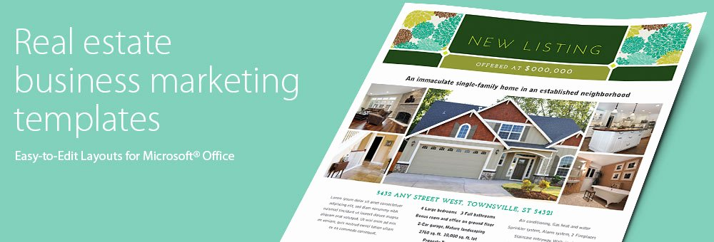 Real Estate Brochures & Flyers Word & Publisher Templates